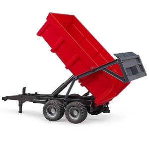 Bruder red tipping trailer