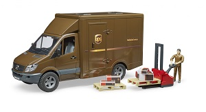<b>new 2018</b> Bruder UPS MB Sprinter with figure and accessories