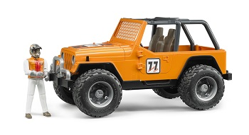 Bruder Jeep Cross Country Racer met speelfiguur