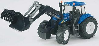 Bruder New Holland TG285 tractor with frontloader