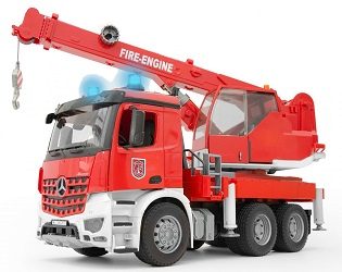 Bruder Mercedes-Benz MB Arocs fire service crane with light and sound module