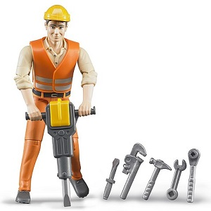 Bruder Bworld construction worker with accessories