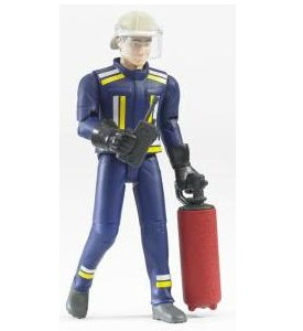 Bruder Bworld fireman, with accessories