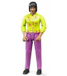 Bruder Bworld woman, medium skin, pink jeans