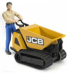 Bruder Bworld JCB Dumpster HTD-5 with construction worker