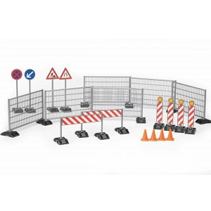 Bruder Bworld accessories construction: ralings, site signs and pylons