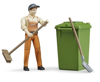 Bruder Bworld waste disposal figure set