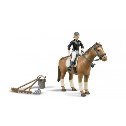 Bruder Bworld figure set horse riding