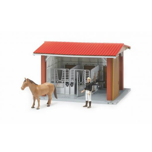 Bruder horse stable with horse, amazone and accessories
