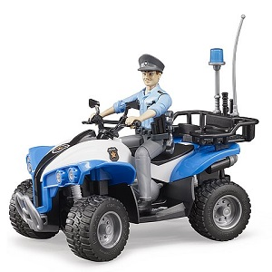 Bruder police-quad with policewoman and accesories