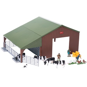 Britains farm set, with shed, farmer family and farm animals (1:32)