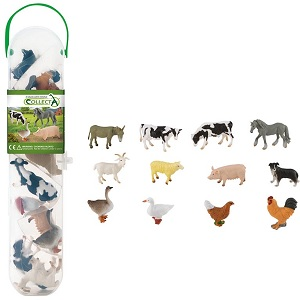 Farm animals set, with 12 miniature animals