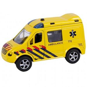 2-Play ambulance met pullback motor en licht en geluid