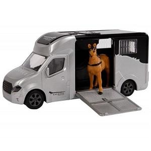 Kids Globe Anemone paardentruck met geluidsmodule, frictiemotor en paard