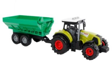 Tractor met licht en geluidsmodule en aanhanger