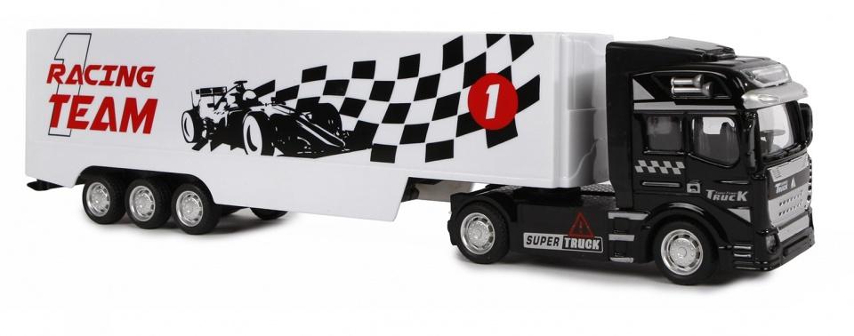2-Play racingteam vrachtwagen met pullback motor
