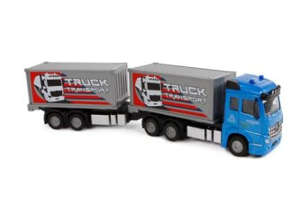 2-Play container truck met aanhanger