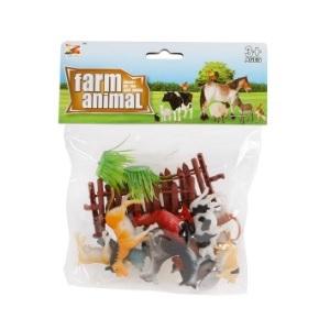 Boerderij dieren en accessoires set 20-delig