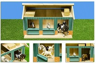Kids Globe wooden horse stable with 2 boxes and workshop 1:24