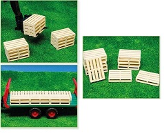 Kids Globe Wooden pallets set of 6 pieces 1:16