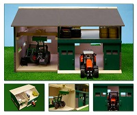 Kids Globe wooden Machinery Shed and Workshop with Loft 1:32