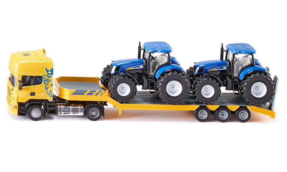 Siku tractor transport met 2 New Holland tractors