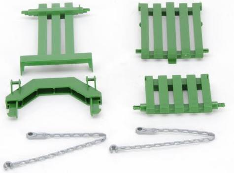 Fold-down gate for John Deere bale press