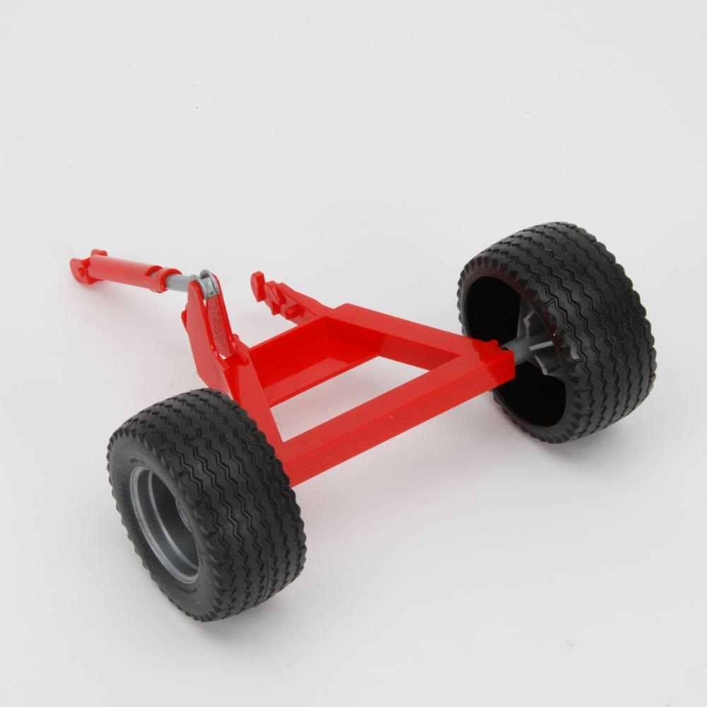 Axle support with wheels for Kuhn discover XL
